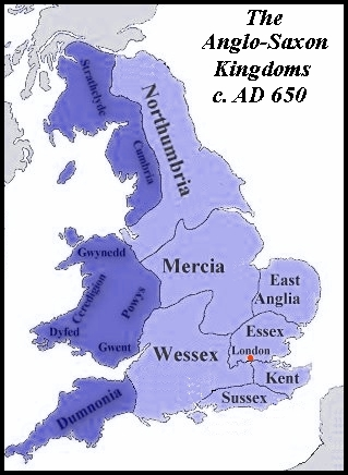 Map Of England 790 Ad.Chronological Listing Of The Kings Of England